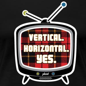Plaid TV - Women's Premium T-Shirt