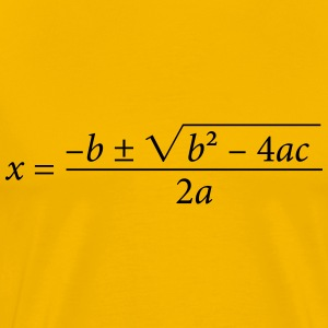 Quadratic Formula - Men's Premium T-Shirt