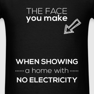 Real Estate Agent - The face you make when showing - Men's T-Shirt