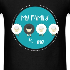 Black Sheep - My family. ->Me - Men's T-Shirt