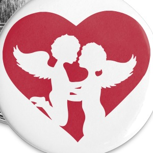 Two angels kiss each other Buttons - Small Buttons