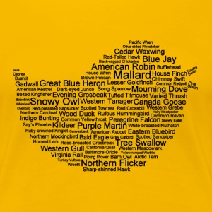Women's Bird Name and Silhouette T-Shirt  - Women's Premium T-Shirt