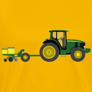 Farm tractor with planter - Men's Premium T-Shirt
