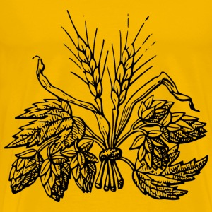 Beer ingredients : Hop and Barley - Men's Premium T-Shirt