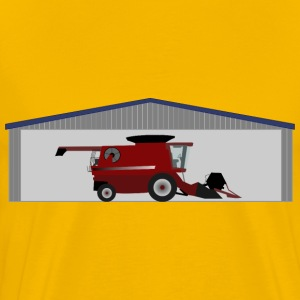 Combine harvester in shed - Men's Premium T-Shirt