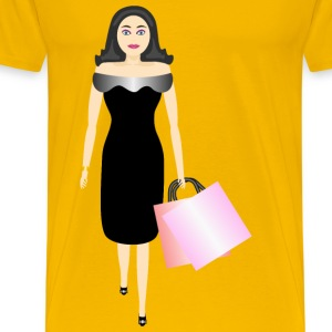 glamour girl shopping - Men's Premium T-Shirt