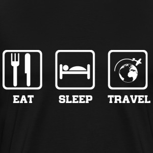 Eat Sleep Travel T-Shirts - Men's Premium T-Shirt