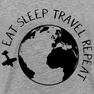 Eat Sleep Travel Repeat T-Shirts - Men's Premium T-Shirt