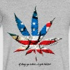 MARIJUANA:  If they go LOW...I get HIGH! T-Shirts - Men's V-Neck T-Shirt by Canvas
