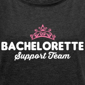 Bachelorette Support Team T-Shirts - Women´s Rolled Sleeve Boxy T-Shirt