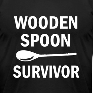 Funny Wooden Spoon Survivor men's shirt  - Men's T-Shirt by American Apparel