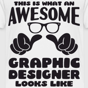This is what an Awesome Graphic Designer looks - Kids' Premium T-Shirt