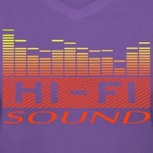 sound equalizer T-Shirts - Women's V-Neck T-Shirt