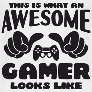 This is what an Awesome Gamer looks like - Kids' Premium T-Shirt