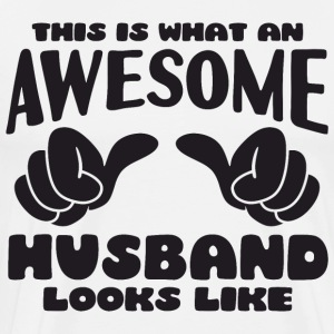 This is what an Awesome Husband looks like - Men's Premium T-Shirt