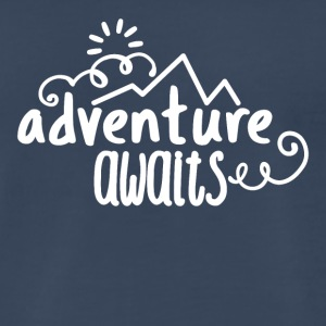 Adventure, awaits. - Men's Premium T-Shirt