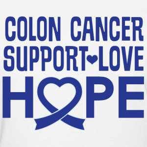 Colon Cancer Awareness Ribbon Support T-Shirts - Women's T-Shirt