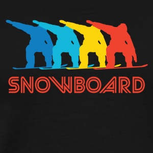 Retro Snowboarding Pop Art - Men's Premium T-Shirt