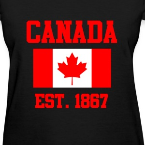 CANADA ESTABLISHED 1867 Leaf Flag Graphic T shirt T-Shirts - Women's T-Shirt