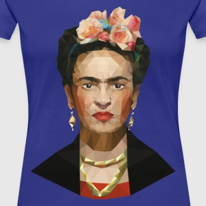 Frida khalo women blue T-shirt - Women's Premium T-Shirt