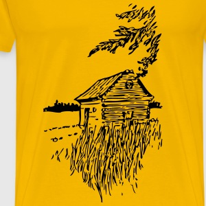 Cabin On The Plains - Men's Premium T-Shirt