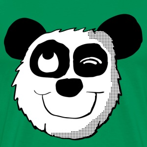 Winking Panda Head  - Men's Premium T-Shirt