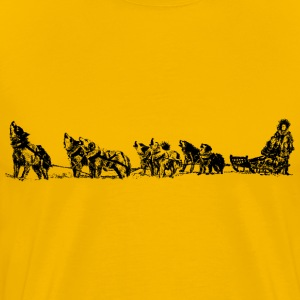 Dog Sled And Team - Men's Premium T-Shirt