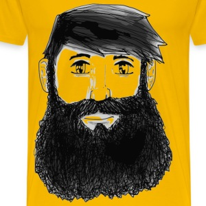 A guy with a beard - Men's Premium T-Shirt