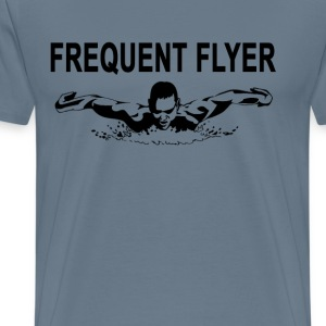 frequent_flyer_swimming_ - Men's Premium T-Shirt