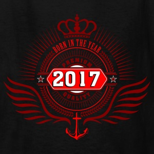 born_in_2017_crown05 Kids' Shirts - Kids' T-Shirt