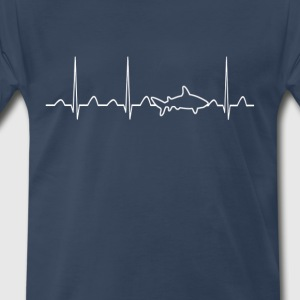 Shark Heartbeat - Men's Premium T-Shirt