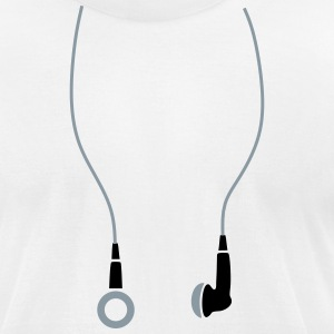 Earphones T-Shirts - Men's T-Shirt by American Apparel