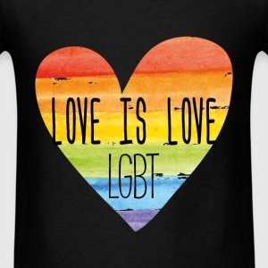 Bisexual - Love is Love - LGBT - Men's T-Shirt