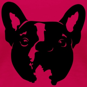 Mr Pixel the French Bulldog in pink - Women's Premium T-Shirt