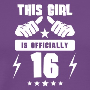 This Girl Is Officially 16 - Men's Premium T-Shirt