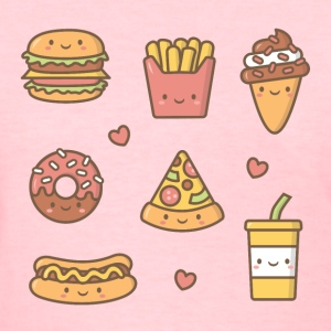 Kawaii Junk Food For Her T-Shirts - Women's T-Shirt