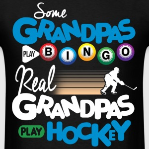 Real Grandpas Play Hockey T-Shirts - Men's T-Shirt