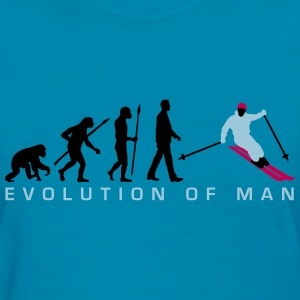 evolution_of_man_skiing_b_3c T-Shirts - Women's T-Shirt
