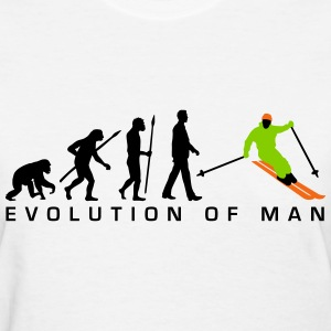 evolution_of_man_skiing_c_3c T-Shirts - Women's T-Shirt