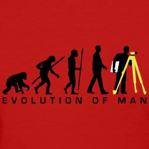 evolution_of_man_surveying_technician_a_ T-Shirts - Women's T-Shirt