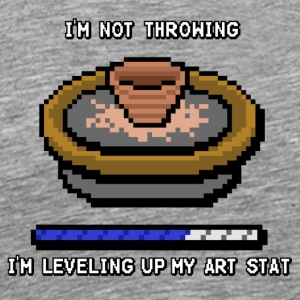 Throwing Level Up Retro - Men's Premium T-Shirt