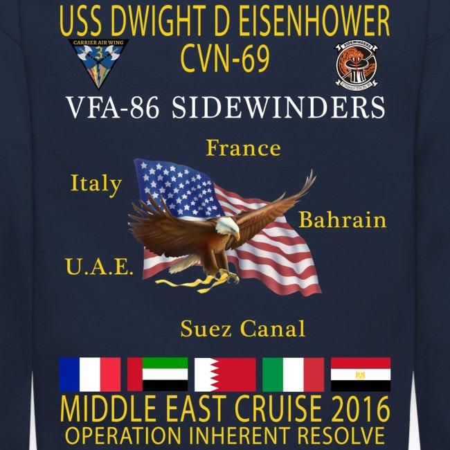 IKE AIRWING - VFA-86 SIDEWINDERS 2016 CRUISE SWEATSHIRT