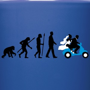 evolution_of_man_wedding_scooter_b3c Mugs & Drinkware - Full Color Mug