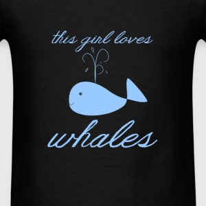 Whales - This girl loves whales - Men's T-Shirt