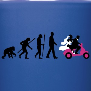 evolution_of_man_wedding_scooter_a3c Mugs & Drinkware - Full Color Mug