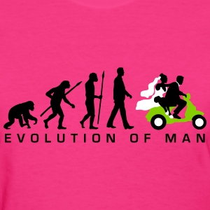 evolution_of_man_wedding_scooter_c3c T-Shirts - Women's T-Shirt