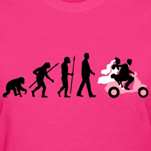 evolution_of_man_wedding_scooter_a3c T-Shirts - Women's T-Shirt