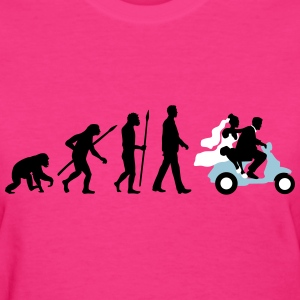 evolution_of_man_wedding_scooter_b3c T-Shirts - Women's T-Shirt