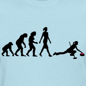 evolution_of_woman_curling_10_2016_a_2c T-Shirts - Women's T-Shirt