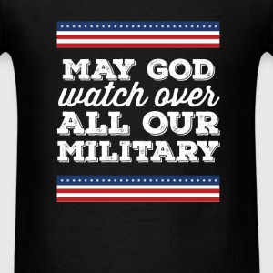 Veteran - May God watch over all our military - Men's T-Shirt